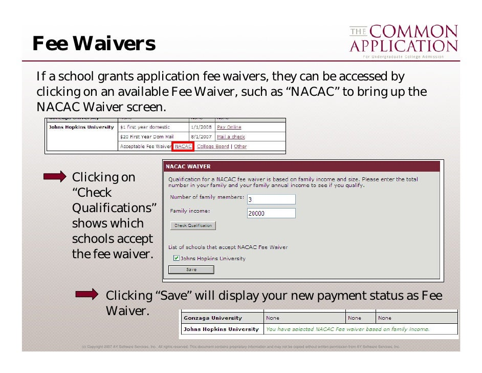 how to get fee waiver for sat